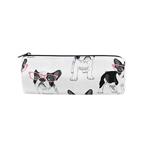 MONTOJ Bulldog mit Brille Federmäppchen Kosmetiktasche