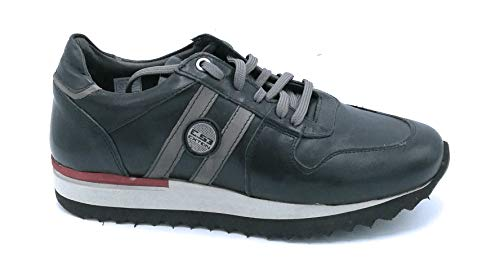 Exton 555 sneakers in pelle nero con lacci - taglia scarpa 44