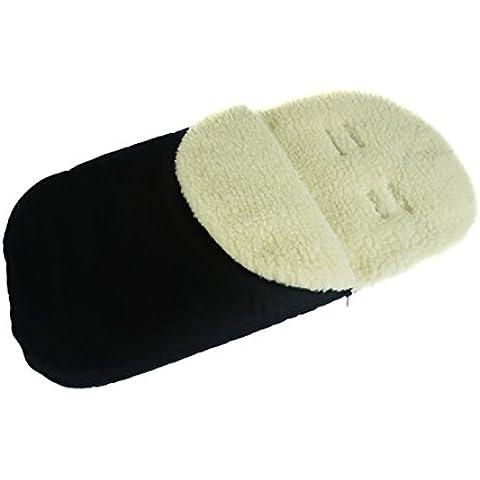Saco universal De dormir para un niño Bebé todo asiento de coche con lana Negro