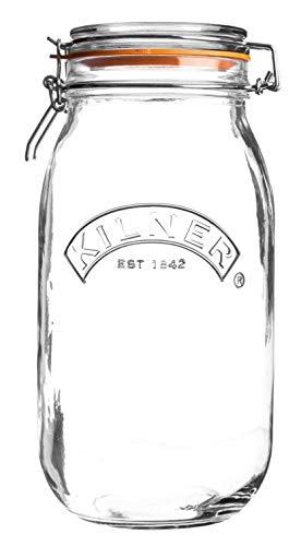 Kilner Glasbehälter, rund, mit Clipverschluss, glas, durchsichtig, 2 Litre