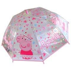 a Pig 45cm Kinderschirm Mädchen Girls Prinzessin transparent durchsichtig ()