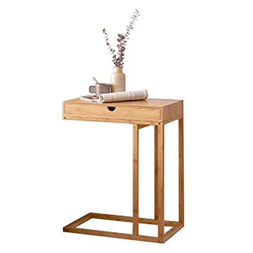 Laptop Tisch Sofa Beistelltisch Multifunktions Stehend Mit Schublade/Keine Schublade Ecke Couchtisch Hause Wohnzimmer Massivholz 2 Arten, B-55 * 35 * 68,5 cm