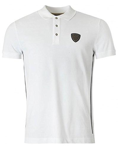 Emporio Armani EA7 polo t-shirt maglia maniche corte uomo bianco EU M (UK 38) 6XPF73 PJ37Z 1100
