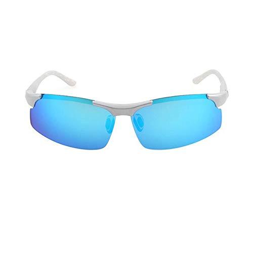 xinzhi Polarized Sonnenbrillen, Polarized Sonnenbrillen Herrenbrillen Nachtsicht Sonnenbrillen Imitation Aluminium Magnesium Sonnenbrillen - Ice Blue Film