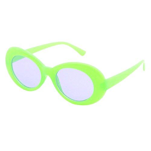Battnot☀  Sonnenbrille für Damen Herren, Unisex Vintage Mode Rapper Oval Shades Rahmen Anti-UV Gläser Sonnenbrillen Schutzbrillen Männer Frauen Retro Billig Sunglasses Women Outdoor Eyewear