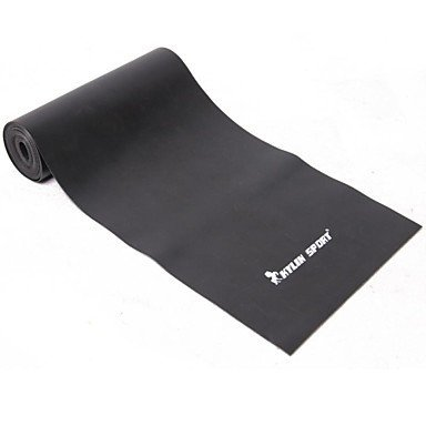 Black TPR Stretch Band for Yoga Pilates Resistance Band for Fitness Training