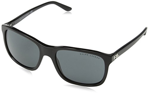 6278db524b8a Ralph Lauren Men's 0Rl8142 500187 56 Sunglasses, Black/Gray