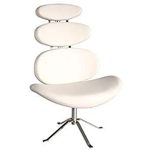 Febland The Big Rib Chair, Metal, Cream, 68x90x120 cm