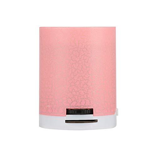 3 Licht Crackle (Alemin Drahtloser Bluetooth-Lautsprecher, tragbare Mini-Audio-LED-Lautsprecher, Premium-3,5-MM-Port-Crackle-Musik-Player für zu Hause im Freien Wandern (pink))