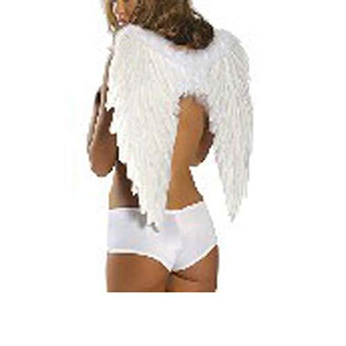 Kostüm Engel Todes Flügel - MHPY HalloweenWeißer und schwarzer Engel beflügelt KostümFeder-Flügel für Partei oder Festival, Feder-Halloween-Zusatz für Erwachsenen