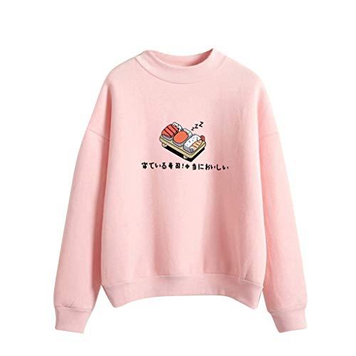 Day.LIN Damen Langarm Rundhals Kapuzenpullover Hoodie Tasche Sweatshirt Pullover mit Kapuzen