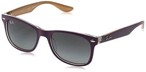Ray-Ban Rayban Unisex-Kinder Sonnenbrille 9052s, Top Matte Violet On Orange/Lightgreygradientdarkgrey, 48