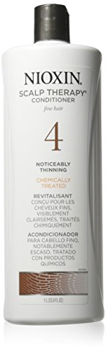 Nioxin System 4 Cleanser & Scalp Therapy for Fine Treated Hair Duo Set, 33.8 oz for each bottle by Nioxin