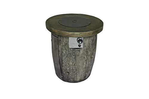Propan-gas-tisch-heizung (Belmont Home BH Rockford Runder Tisch für Gasfeuerstelle in Holzoptik)