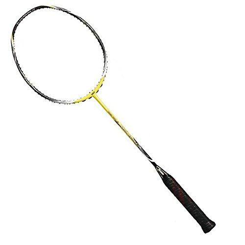 Outdoor-Badminton-Schläger-Rahmen-hohe Steifigkeit-hohe Elastizität-Carbon-Faser-super leichter professioneller Schläger Offensive und Defensive (1 Stücke) , yellow , w