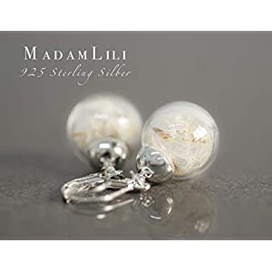 925 Sterling Silber Echte Pusteblumen Ohrringe   Exklusive Schmuckschachtel   Tolle Geschenkidee