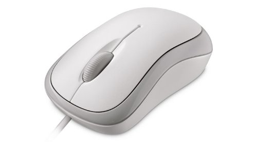 Microsoft Basic Optical Mouse for Business - Ratón óptico (800 DPI ), blanco