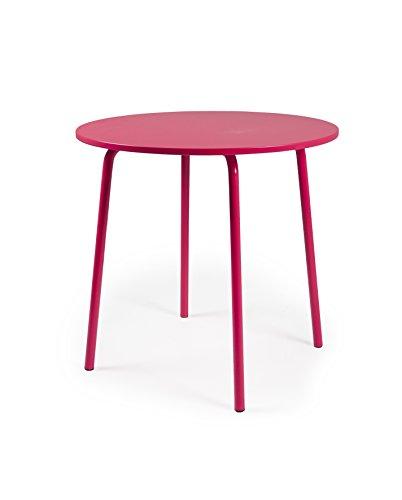 Tenzo LOLLY Designer Table Ronde, Autre, Rouge, 90 x 90 x 76 cm