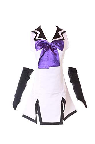 Kawaii-Story MN-64 Gokukoku Brynhildr in The Darkness Neko Kuroha Mini Kleid 3-TLG. Set Matrosen Sailor Uniform Kostüm Anime Cosplay ()