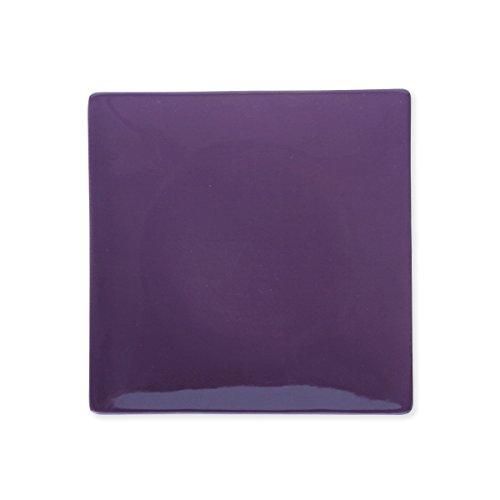 Bruno Evrard Assiette Dessert Violet en céramique 21x21cm - Lot de 6 - MATINE
