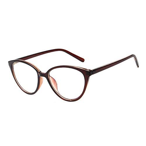 YMTP Brillengestell Retro Männer Frauen Optische Brillen Cat Eye Brillen Rahmen Reise Dekorative Gläser Klare Linse
