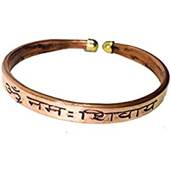 Discount4product Pure Copper Kada with OM Namah Siway for Men & Wome