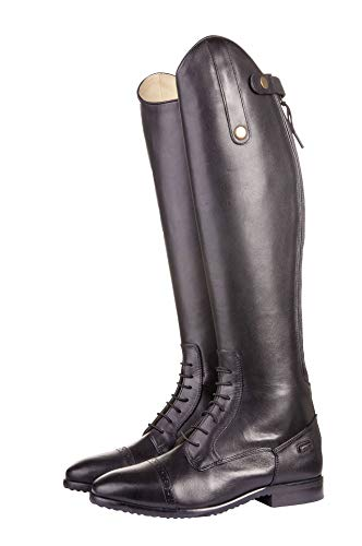 HKM Erwachsene Reitstiefel -Valencia-, Standardlänge/-weite9100 schwarz37 Hose, 9100 schwarz, 37