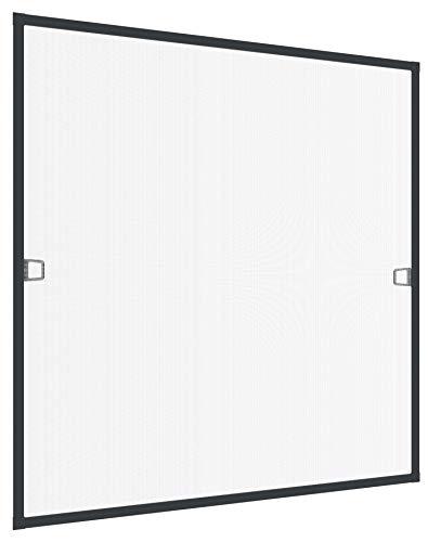 Rhino Insect Screen Insektenschutz Fenster Spannrahmen Fliegengitter für Fenster Fenstergitter Fliegenschutz, aus Aluminium, anthrazit, 100 x 120 cm, 03753