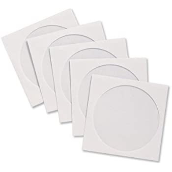 100 Hama Sealable CD/DVD Paper Sleeves - White: Amazon.co.uk ...