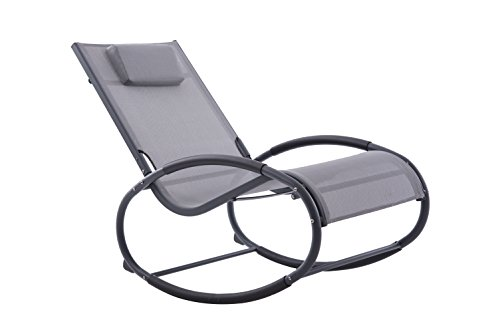 Vivere WAVEROCK1-GB Wave Rocker - Grey on Matte Black, 122x61x91 cm Best Price and Cheapest