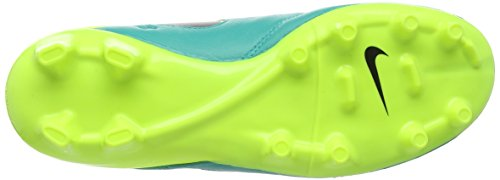 Nike Tiempo Mystic V Fg, Chaussures de Foot Homme Noir (Clear Jade/Black/Vert Volt)
