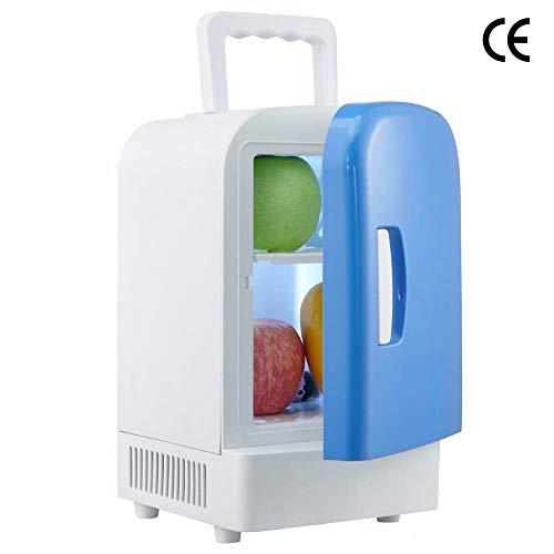 ADHW Mini Tragbarer kompakter Persönlicher Kühlschrank,Warmhalten und Kühlen,4 L Fassungsvermögen,100% Freonfrei und Umweltfreundlich,Enthält Steckerfür Home Outlet &12V Autoladegerät -