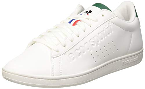Le Coq Sportif Courtset, Sneaker Unisex-Adulto, Bianco Optical White/Evergreen, 42 EU