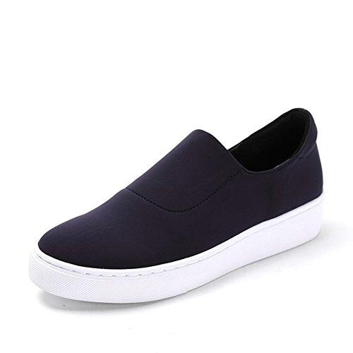 Trend primavera messo piede sulla tela scarpe da skate/Scarpe con la suola spessa piattaforma Blu
