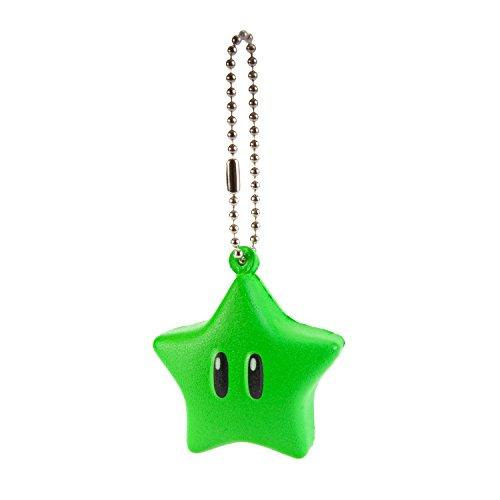 Preisvergleich Produktbild Super Mario 3D World Funyu Squeeze Keychain - Green Star