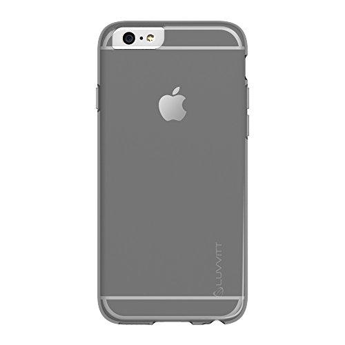 iPhone 6Plus Case, luvvitt® Frost iPhone 6Fall * * NEU * * 14cm Bildschirm iPhone 6Plus Schutzhülle–Soft Slim Transparent Gummi TPU Back Cover–Frosted Klar Transparent, Schwarz