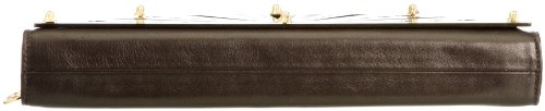 KZENIYA  Moon Clutch Laser Cut Perspex, pochette femme Marron - Brown/Bronze