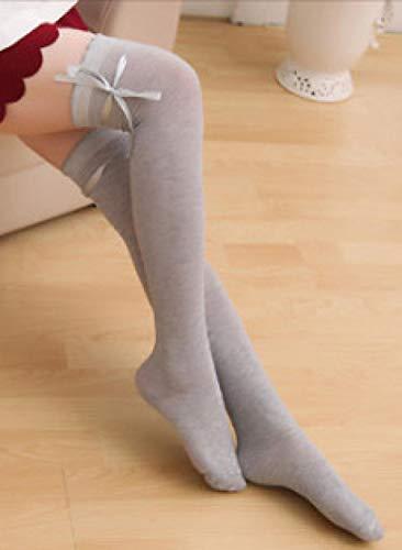 Luotears Moda lazo arco rodilla calcetines japoneses