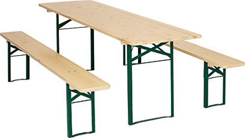 Kunibert Ensemble de qualité 1 A Brasserie 67er Table breite67 cm Couleur : Naturel Longueur 200 cm