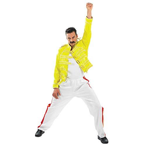 Rock Legend - Adult Kostüm - Large - - Freddie Mercury Gelbe Jacke Kostüm