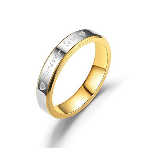 ERDING Unisex/Verlobungsring/Freundschaftsring/Romantische für Immer Liebe Brief Ringe für Liebhaber Eheringe Engagement Edelstahl Ring für Frauen und Männer Je