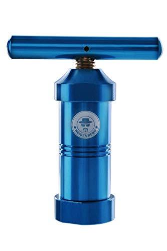 Heisenberg Pollenpresse Alu Blau Höhe: 120mm, Durchmesser: ∅ 40mm, Aluminium, Farbe: Blau