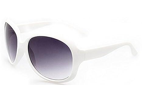 (Weiß) Sonnenbrille Frauen Big Retro Vintage polarisierten UV 400