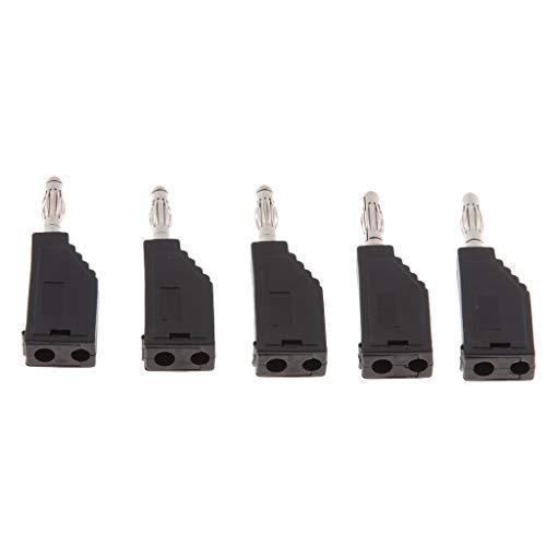 Almencla 5 STÜCKE 4mm Bananenstecker Binding Post Für Multimeter Sonden Schweißkabel - schwarz (Nakamichi Wireless-lautsprecher)