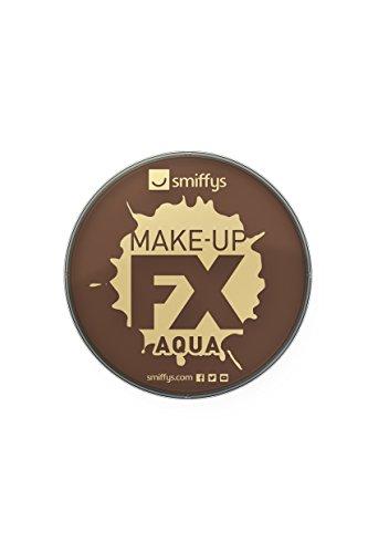 Smiffy's 39184 Make-up FX, Aqua Face und Body Paint, dunkelbraun -