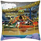Amusement Parks at West Edmonton Mall 05 - Throw Pillow Cover Case (18