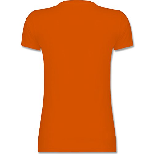 Evolution - Snowboard Evolution - tailliertes Premium T-Shirt mit Rundhalsausschnitt für Damen Orange