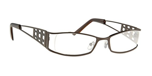 Lesehilfe URA020FC15 Lesebrille Herren Brille Fertigbrille in +1.50 Dioptrie 1 5 - Farbe braun