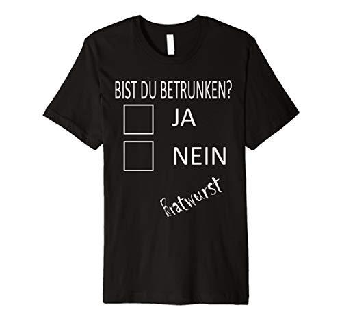 Bratwurst Trinken Lustiges Halloween Party Kostüm Fun Shirt