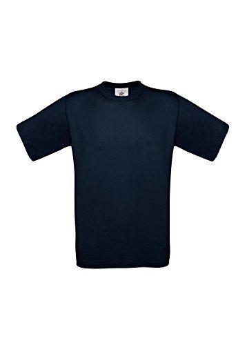 10 B&C T-Shirts Exact 190 kurzarm T-Shirt S-3XL in verschiedenen Farben BCTU004 3X-Large,Navy - Seide Twill Shirt